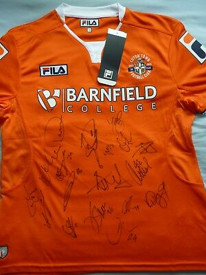 Luton Town Signed Shirt x18 - Football Autograph, The Hatters, 2017/18, Collins