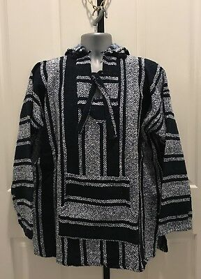 Hand Made Guatemalan Sweater Poncho, Black/ White