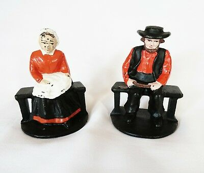 Cast Iron Mennonite Painted Bookends