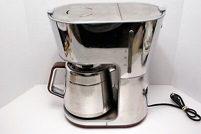EUC! Krups KT600 Silver Art Collection Thermal Carafe Chrome Steel Coffee Maker