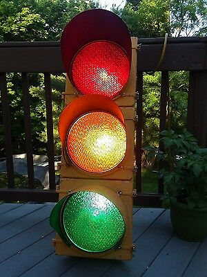 Vintage McCain Traffic Supply Traffic Signal Light-3 Light Signal-Man Bar Cave