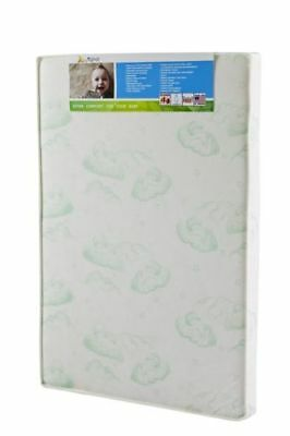 """Dream On Me 3"""" Thick Playard Mattress White with Green Baby on Cloud"""