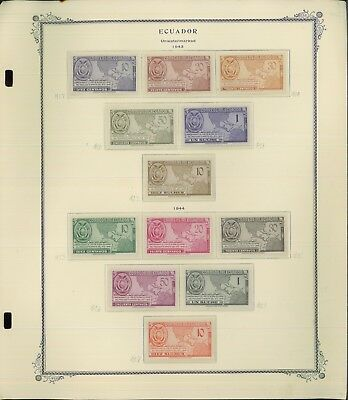 1896-1976 Ecuador Mint/Used Postage Stamp Collection 89 Album Pages Value $2065
