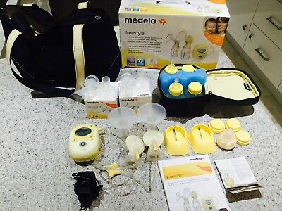 Medela Freestyle Double Electric Breastpump With Extras! Bargain