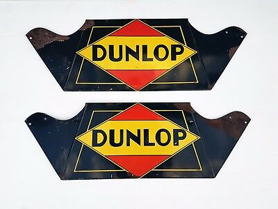 RARE Vintage 1930s DUNLOP TIRE SIGNS Service Station STORE DISPLAY Advertising