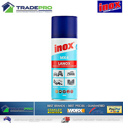 Inox Spray Genuine Lanox® MX4 300gm Anti corrosion lanolin lubricant Marine Auto