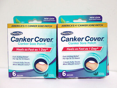 DenTek Canker Cover Canker Sore Patch - 6 patches (2 pack) [HB-D]