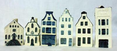 KLM Airlines Blue Delft House Decanter Lot 6 Pieces