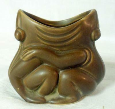 Arts & Crafts Double Frog Stickley Era Art Pottery Vase