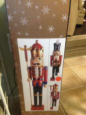 "Giant Soldier Nutcracker Christmas Figure - Large Deluxe Decoration - 30"" Tall"