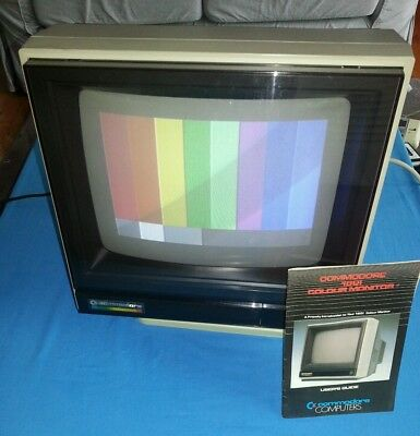 Commodore 1801 monitor with stand.