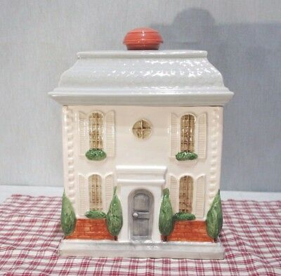 Fitz and Floyd 1985 House Cookie Jar with lid