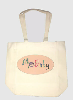 """Digitranz's """"ME AND MY BABY'S"""" OFF WHITE with  (YOUR DESIGN) TOTE (13""""X 11"""" X4"""")"""