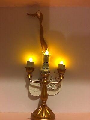 Disney Beauty And The Beast Lumiere Light Up Tree Ornament 5 inches