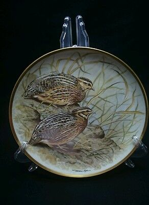 Common Quil Franklin Porcelain Collectable Plate By Basil Ede