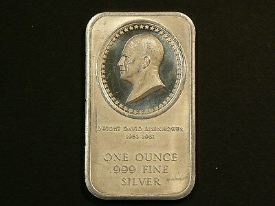1776 1976  Eisenhower One Ounce Silver Bar 99.9% Pure No Tax #G7485
