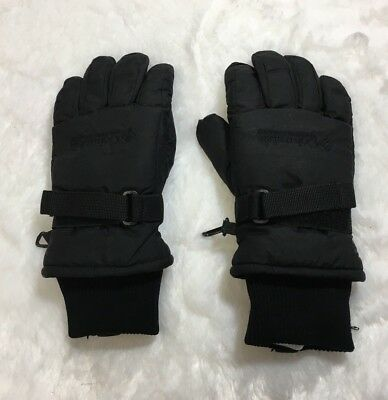 Columbia Youth Size Small Black Insulated Winter Gloves Snow Skiing Snowboarding