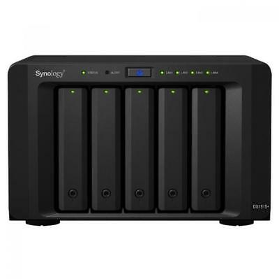 Synology DS1515+ Disk Station 5-Bay Diskless NAS Intel Quad Core 2.4GHz 2GB RAM