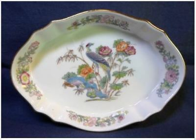 Wedgwood Kutani Crane Silver Tray w/Gold Trim Made in England MINT Condition