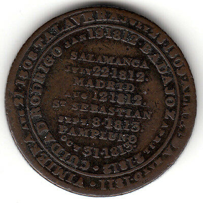 Canada  Colonial token  Breton 988  WE-11D2  1813 Pampluno  Milled edge