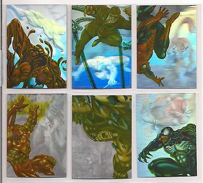 1995 Marvel Fleer Ultra Spider-Man Complete Holoblast Chase Card Set Nm Scarce