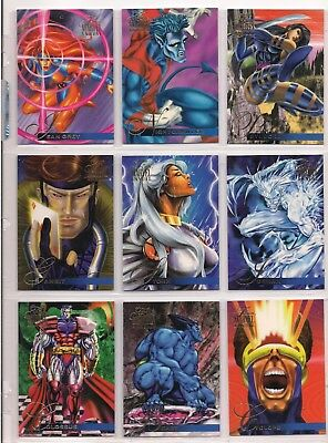 1995 MARVEL FLAIR ANNUAL COMPLETE 150 CARD BASE SET NM Masterpieces + PROMO