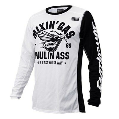 FASTHOUSE Mixin Gas MX Jersey White OFF ROAD DIRBIKE