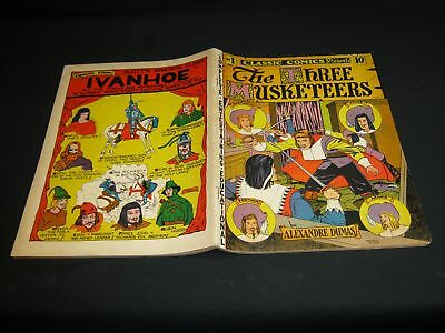 Classic Comics: THE THREE MUSKETEERS (Original) Copyright 1941  NO HRN  VG/VGF