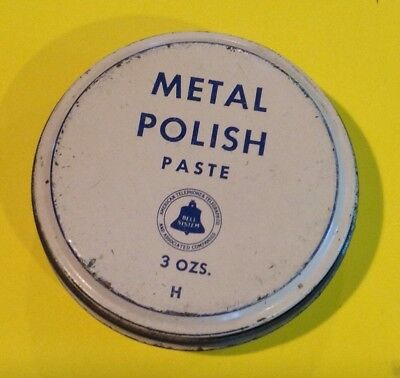 Bell Telephone System Can Of Metal Polish Pasge 3 Ozs Full Can