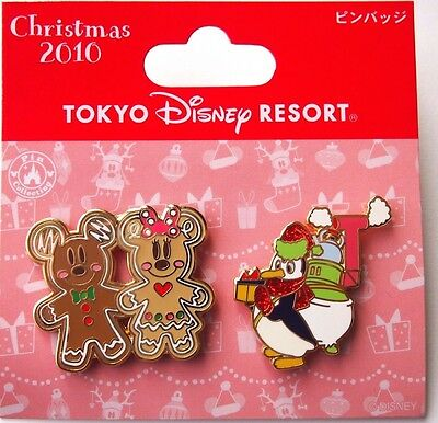 Pins Tokyo Disney Resort TDR Christmas 2010 Gingerbread Micky Minnie Pablo JAPAN
