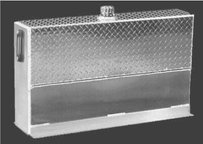 Upright Hydraulic Oil Tank Reservoir - 35 Gallons - Aluminum - With Mounting Kit