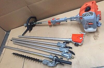 62CC Pole Chainsaw Hedge Trimmer Pruner Chain Saw Tree Cutter Multi Tool