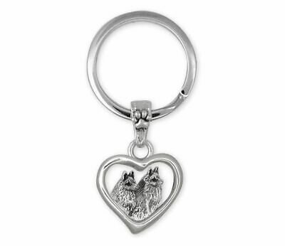 Schipperke Jewelry Sterling Silver Schipperke Key Ring Handmade Dog Jewelry SC6-