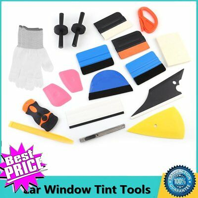 Professional Auto Car Window Tint Tools Kit Decals Wrap Application Squeegee VIP