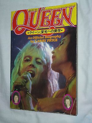 QUEEN Japan Official Biography book 1977 Japanese !!