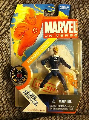 Marvel Universe HUMAN TORCH dark blue and white new mint Hasbro fantastic four 4