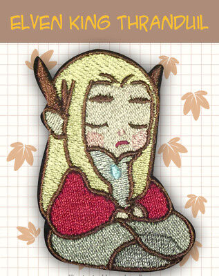 The Hobbit Thranduil King of the Elves legolas green leaf Badge Embroidery Be
