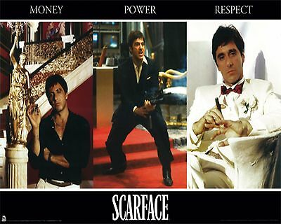 "SCARFACE MONEY POWER RESPECT POSTER PRINT AL PACINO TONY MONTANA 24""x36"" NEW"