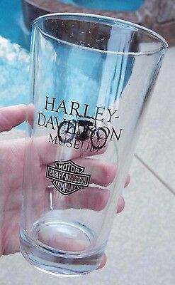 HARLEY DAVIDSON Motorcycle Museum Pint Drinking Glass Milwaukee WI Wisconson