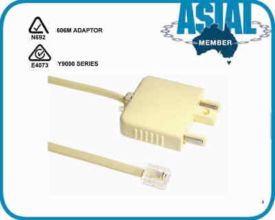 telephone cable 2m Adapter RJ-11 CABLE cord PHONE MODEM  JACK