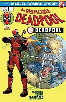 Despicable Deadpool #287 Espin Lenticular Homage Legacy Variant Cover
