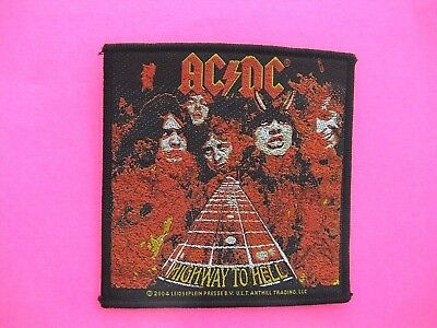 Ac/dc Official 2004 Woven Vintage Patch Uk Import Sew - On