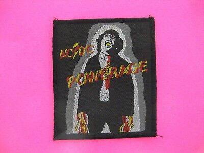 Ac/dc Official Woven Vintage Patch Uk Import Sew - On  Powerage