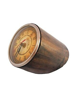 VINTAGE TAPER SHAPE LEATHER Table Clock . REPLICA