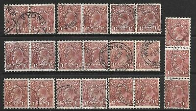 KGV 11/2d  RED & BLACK -BROWN  SINGLE & L.M. WMK'S   PAIRS & STRIPS   60+ STAMPS