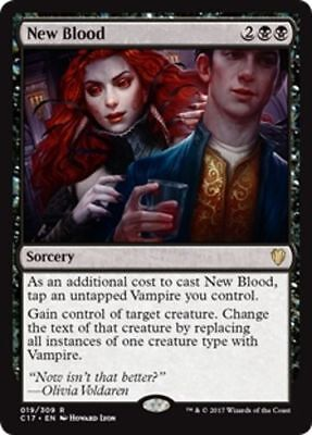 1x NEW BLOOD - Rare - Commander - MTG - Magic the Gathering