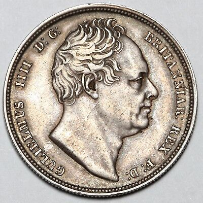 1834 King William Iiii Iv Great Britain Silver 1/2 Halfcrown Half Crown Coin