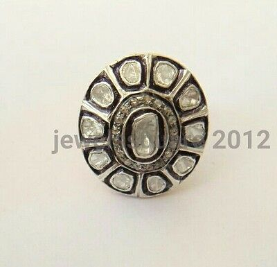 .26Cts Rosecut Diamonds Victorian & Antique Inspired 925 Silver  Ring Jewelry