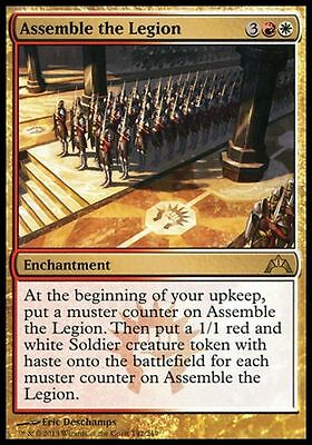 1x ASSEMBLE THE LEGION - Rare - Gatecrash - MTG - NM - Magic the Gathering