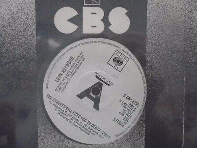 """LEON HAYWOOD""""THE STREETS WILL LOVE YOU TO DEATH""""UK CBS PROMO MINT COND.IN Or.SL."""